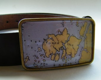 Deer Isle Maine belt buckle