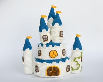 Crochet PATTERN No 1715 Princess castle by Krawka
