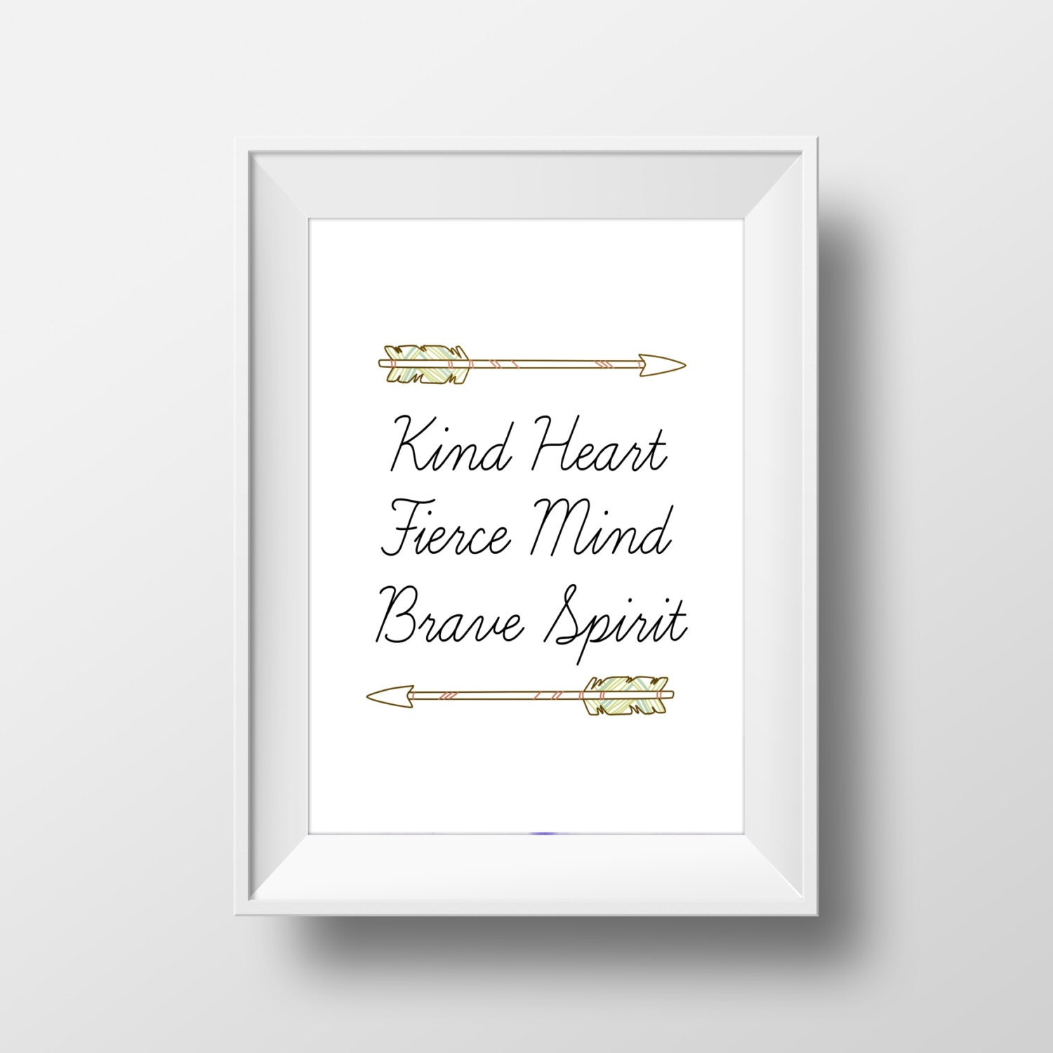 Arrow Quotes Life Kind Heart Fierce Mind Brave Spirit Quote  Life Quotes