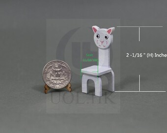 Miniature 1:12 scale Cartoon Leopard Chair For Doll House Children Room