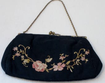 Vintage Hand Embroidered Purse