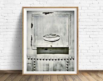 "grain silo, industrial decor, farmhouse decor, farmhouse wall decor, instant download, printable art, large art, large wall art -""Silo Door"""