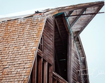 Apex of an Antique Barn, Landscape Photography, Fine Art Photography, Wall Art