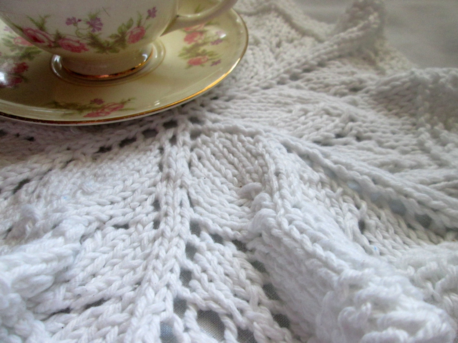 Round Dishcloth Knit Pattern, Knit Doily Pattern, Lace Washcloth ...