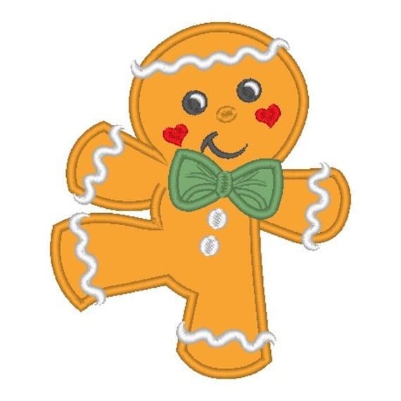 SAMPLE SALE, Dancing Gingerbread Boy Embroidered Shirt - Christmas Shirt - Boys Christmas Shirt - Gingerbread Shirt