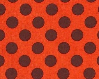 Patchwork polka dot ta dot pumpkin Miller fabric