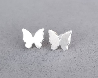 Tiny Sterling Silver Butterfly Earrings, Sterling Silver Studs, Nature Earrings,  Everyday Earrings, Nature Lover Gift, Valentines Gift