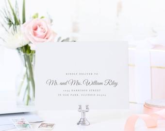 Printable Envelope Address Template, Wedding Envelope, Calligraphy Envelope Address, Vintage Botanical | SUITE028