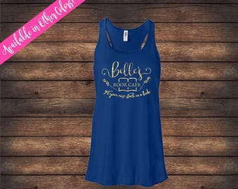 Beauty and the Beast | Belle's Book Cafe Tank | Belle Tank | Beauty and the Beast Shirt | Glitter Tank | Tale As Old Time | Belle Shirt
