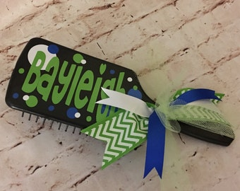Personalized Hairbrush - Cheer Team Gift - Cheer Squad Gift - Best Friend Gift - Flower Girl - Stocking Stuffer