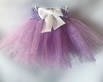 Purple Glitter Tutu | Sparkley Photo Prop Cake Smash Costume Outfit