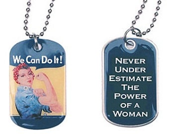 Rosie the Riveter I.D. Dog Tags