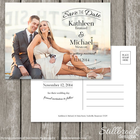 save the date postcard template wedding photo save the date. Black Bedroom Furniture Sets. Home Design Ideas