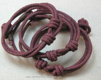 dark red slip knot cord bracelet adjustable knotted cotton bracelet rope accessory nautical style bracelet 3476