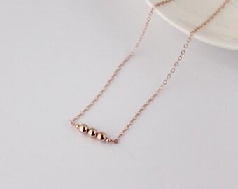 Rose gold filled necklace