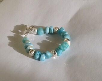 Larimar bracelet larimar jewelry stardust and Larimar beads shine bright mothers day gifts
