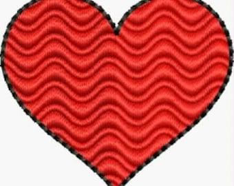 Mini Heart embroidery designs 4 sizes