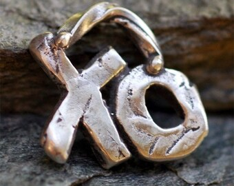XO Hugs and Kisses Charm in Sterling Silver