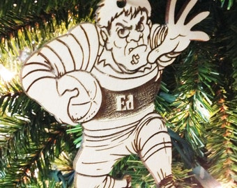 Rugby Personalized Christmas Ornament