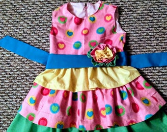 Toddler Dress with Hearts
