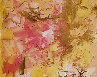Pink & Gold Abstract