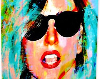 Lady Gaga art print wall decor | Artwork worth collecting - ea.lg.m by Mark Lewis Art ®