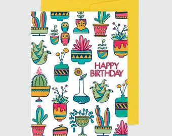 Birthday Card - Succulent Birthday