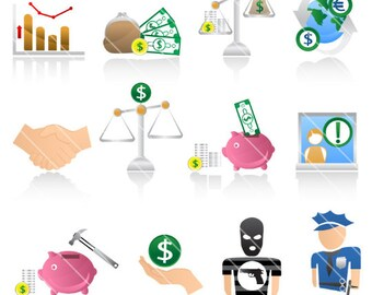 Finance Icons  Commercial License