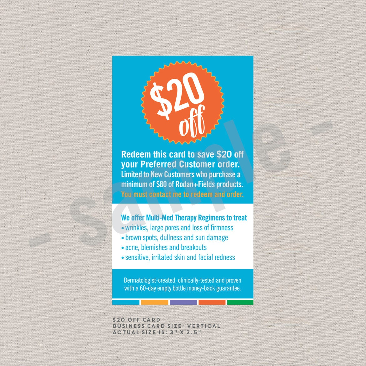 20 off card vertical rodan and fields inspired digital zoom reheart Image collections