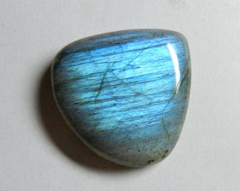 High Quality Natural Labradorite Pear Cabochon 28x28x7 MM Size Amazing Blue Flash 38.75 Carat AAA+++ Quality Smooth Polished Pear Shape LI2