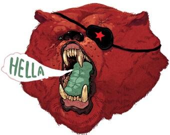 Hella Cali Bear - Print