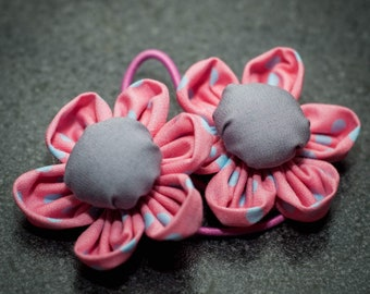 Hair Bobbles, Flower, Handmaide