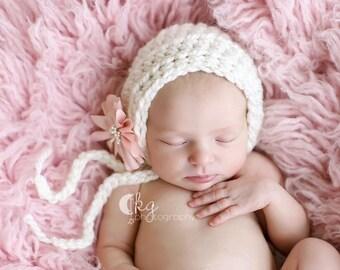 Crochet Chunky Bonnet / Baby  Bonnet/Made to Order