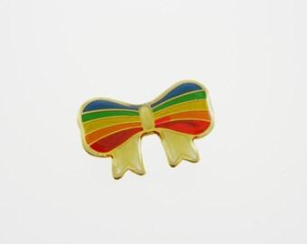 Rainbow Bow Brooch