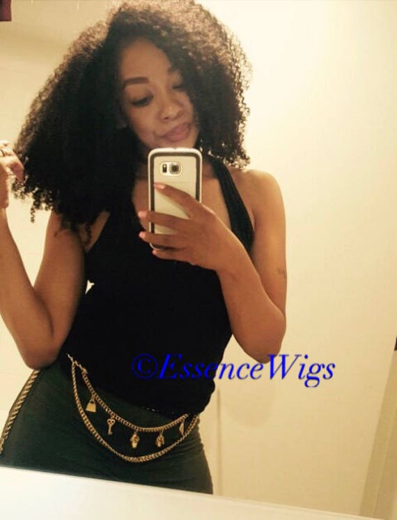 "Essence Wigs The ""AfriKurly"" Lacefront Wig 100% Brazilian Virgin Human Hair Black Wig Afro Kinky Curly Lace Wig Unit 3C 4B 4A Natural hair"