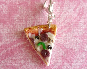 Pizza Charm Miniature Food Jewelry Clay Jewelry Polymer Clay Pizza