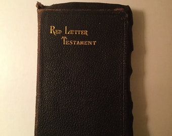 New Testament Bible 105 years old Red Letter