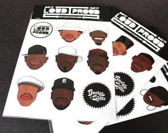 Hip Hop Sticker Sheet ( Golden Era Set 2)