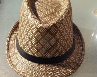 Brown & Tan Fedora Hat.. Both For Male And Female