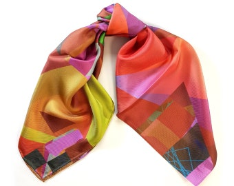 One-of-a-kind silk scarf No.24