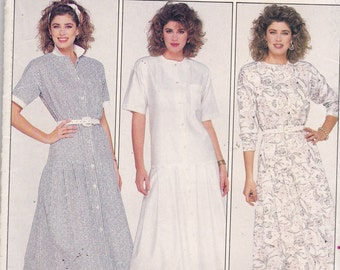 Butterick 4702 Vintage Pattern Womens Mid Calf Dress in 3 Variations size 10 UNCUT