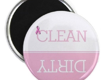 Breast Cancer #2 Clean Dirty Dishwasher Magnet