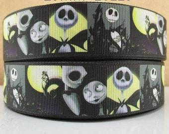 5 YDS Nightmare Before Christmas Collage Ribbon