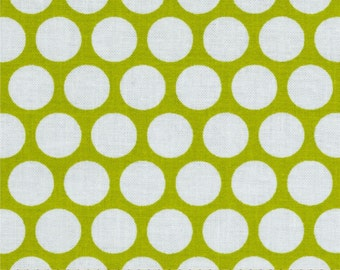 Sale-Quiltologie Green and White Polka Dot - Full or Half Yard Green Dot Quilt Fabric from A.E. Nathan