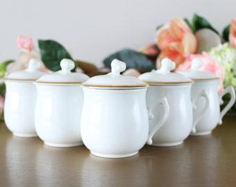 Royal Worcester Porcelain Pots De Creme Set, English Pots De Creme, English Custard Cups, Chocolate Cups, Mother's Day Gift For Mom