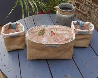 Valentine trio organization basket tidy decoration veronpiotcreation burlap storage basket cotton wedding gift