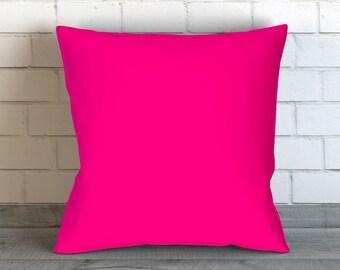Hot Pink Pillows, Pink Throw Pillows, Hot Pink Pillow Covers, Pink Pillow, Hot Pink Bedding, Pink Toss Pillow, Pink Bedding, Pink Teen Decor
