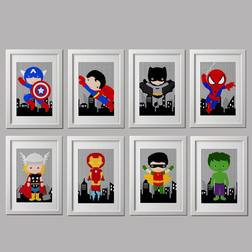 superhero nursery prints superhero bedroom prints superhero