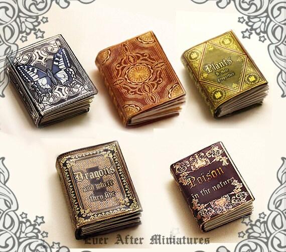 5 ENCYCLOPEDIA Dollhouse Miniature Book Set Collection Of 5