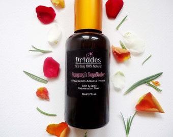 face toner, helichrysum rose water spray, oily skin toner, facial mist, acne treatment, face astringent, blackhead cleanser, pore minimizer